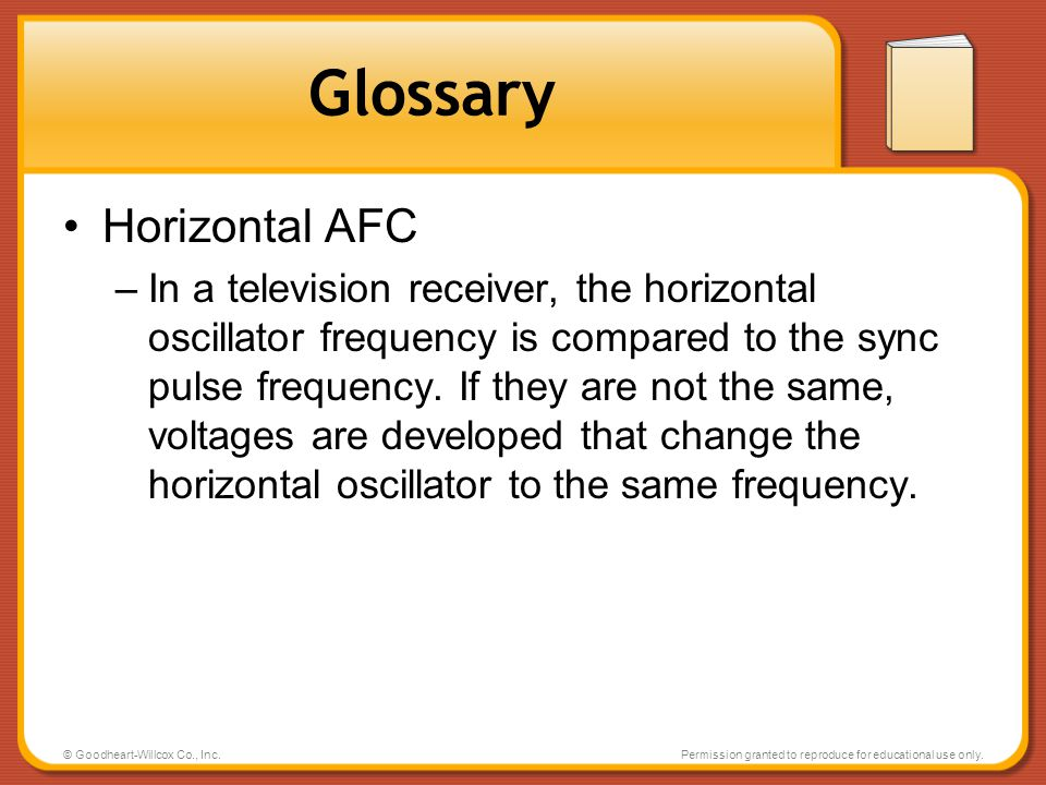 Glossary Horizontal AFC