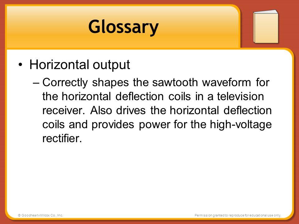 Glossary Horizontal output