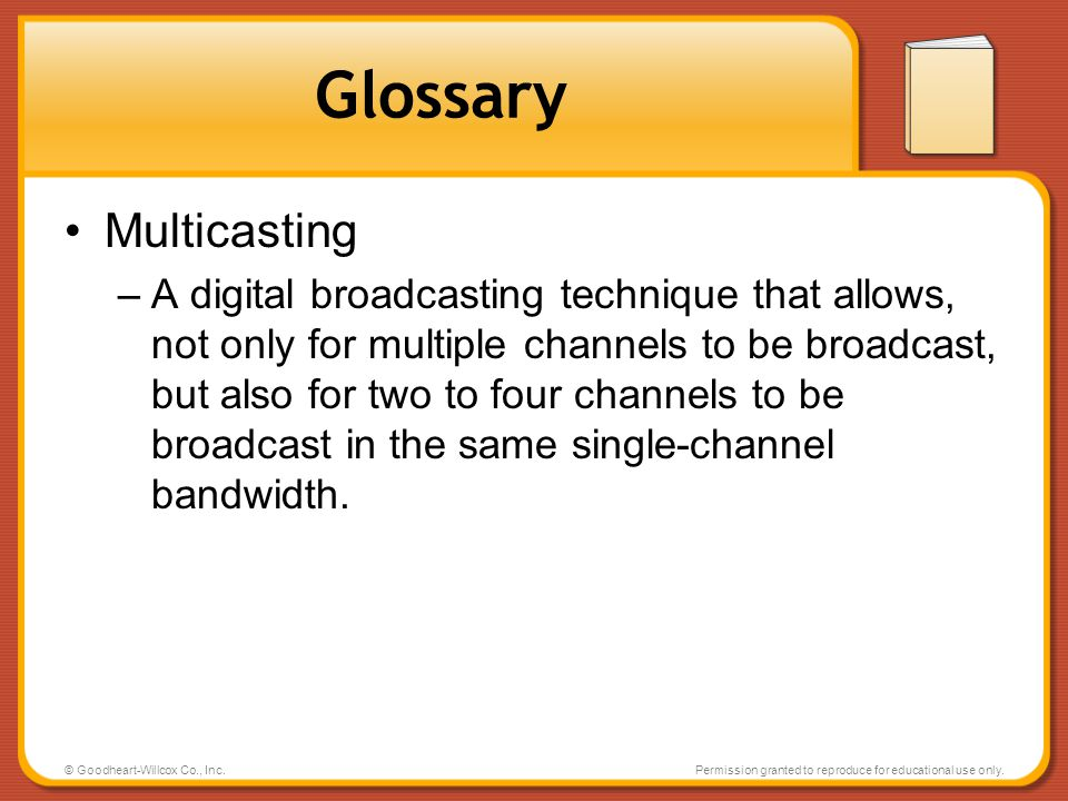 Glossary Multicasting