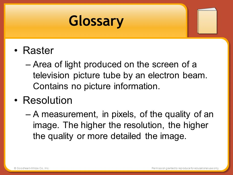 Glossary Raster Resolution