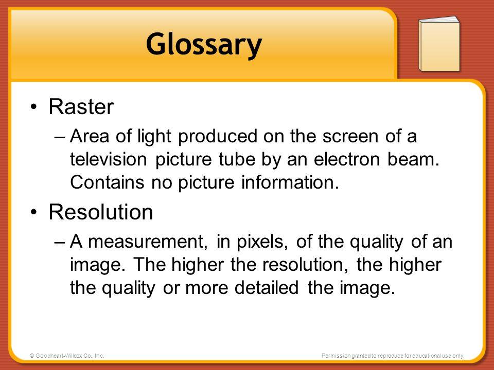 Glossary Raster Resolution