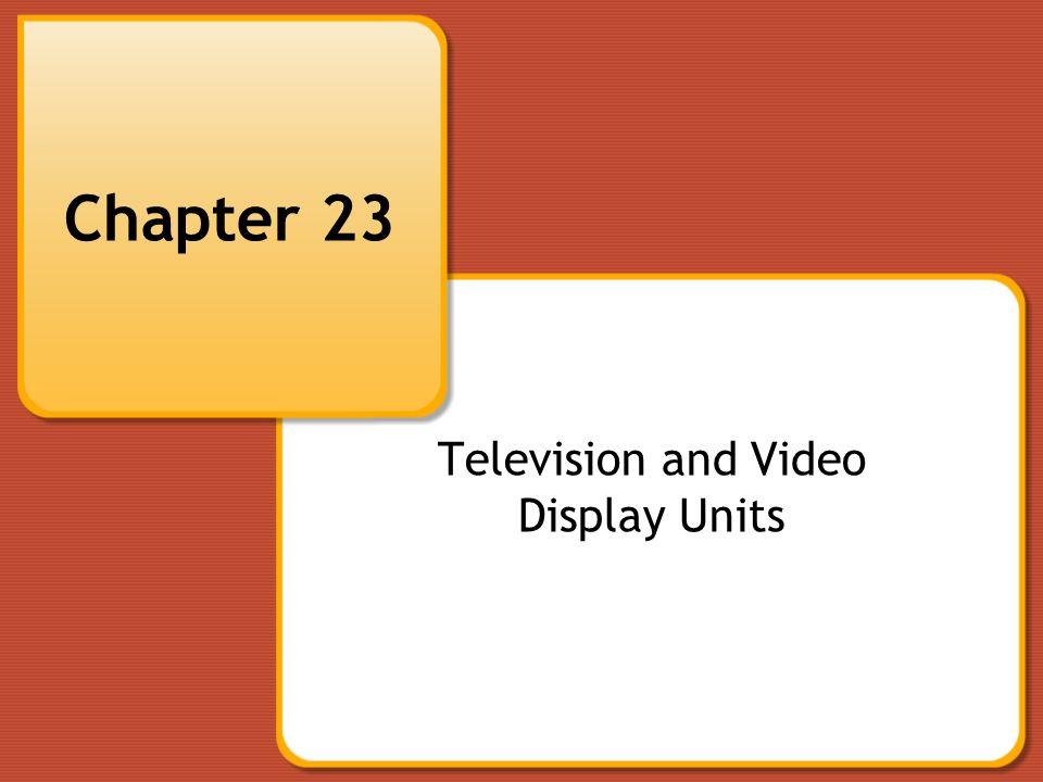 Television and Video Display Units