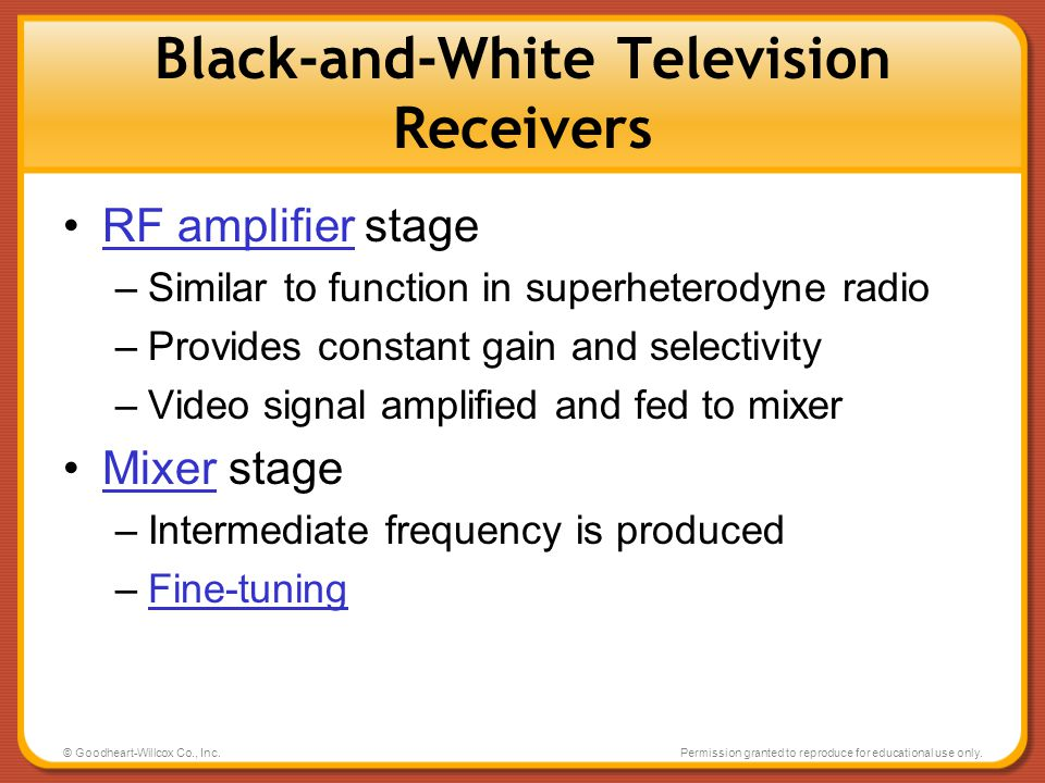 Black-and-White Television Receivers