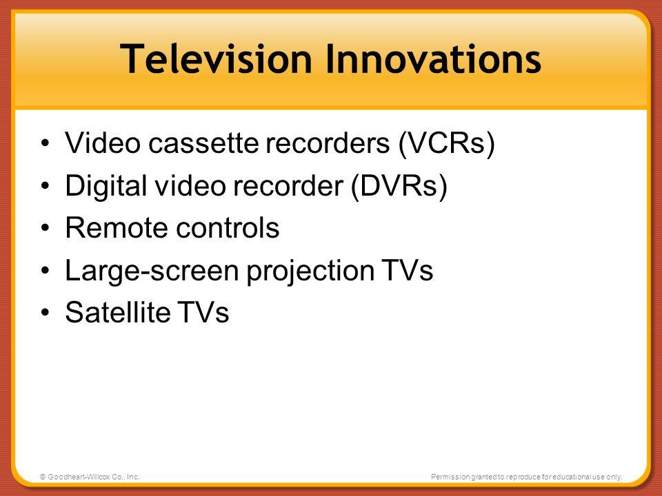 Television Innovations