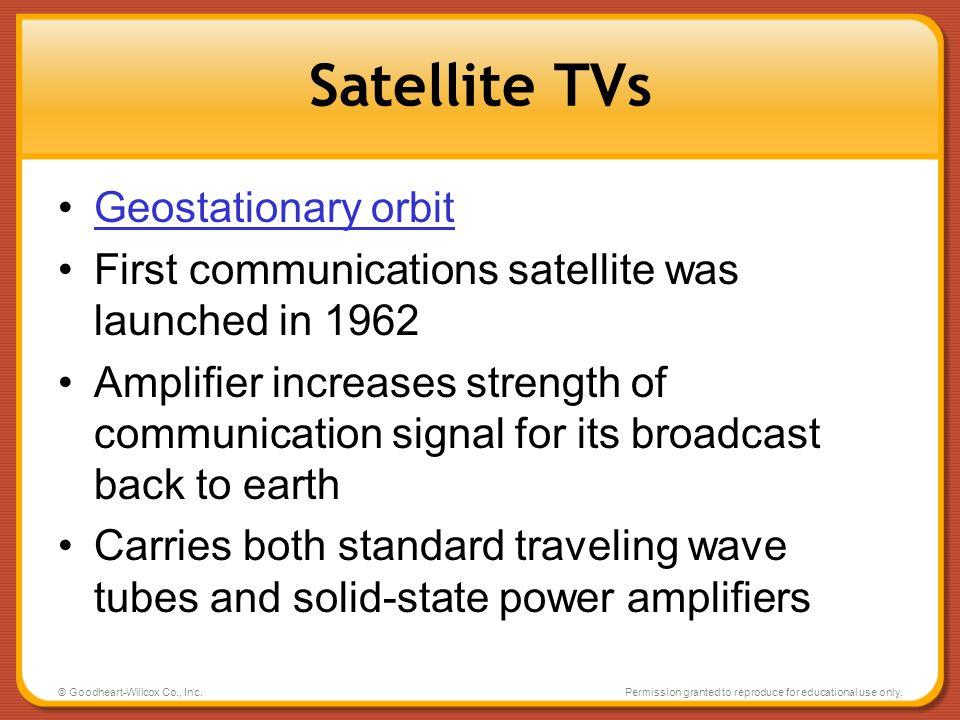 Satellite TVs Geostationary orbit