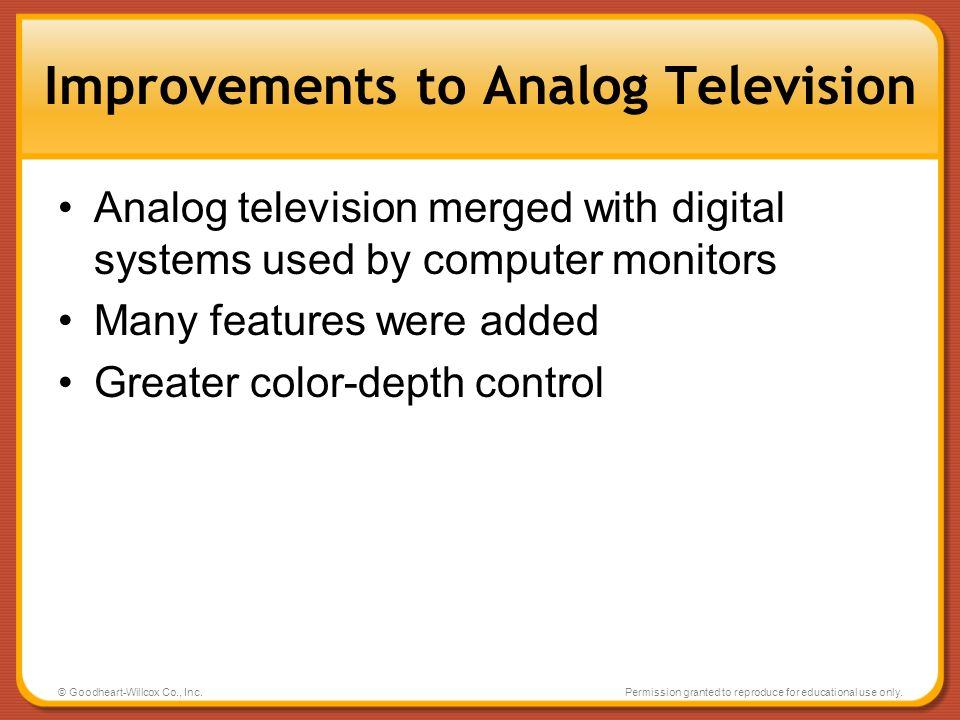 Improvements to Analog Television
