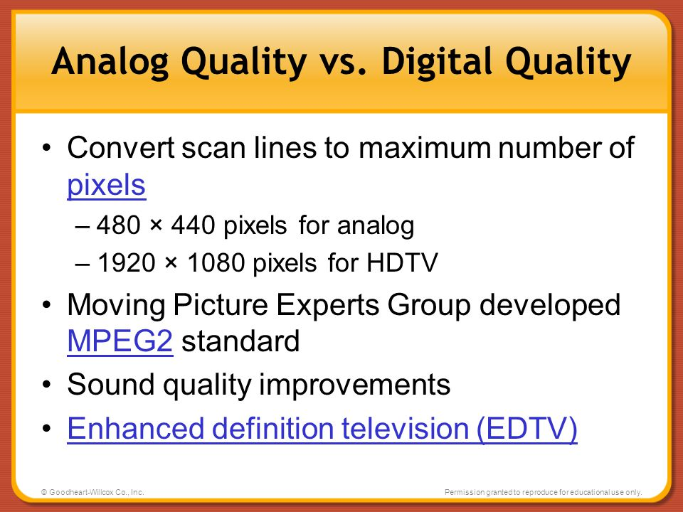 Analog Quality vs. Digital Quality