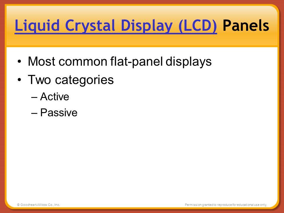 Liquid Crystal Display (LCD) Panels