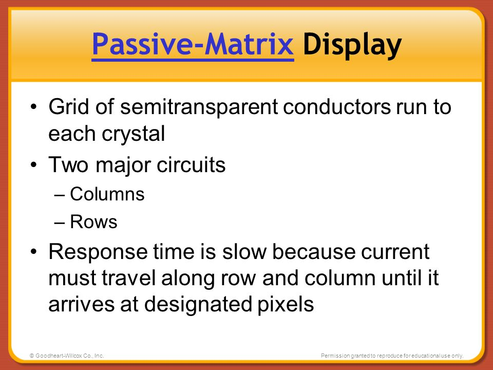 Passive-Matrix Display