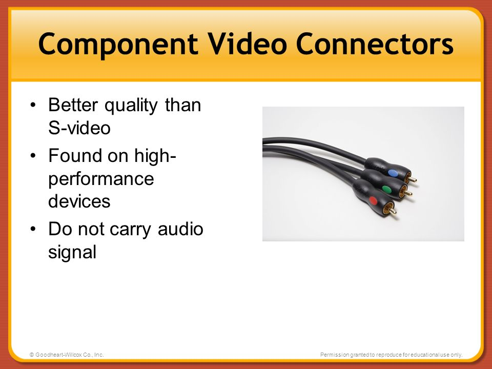 Component Video Connectors
