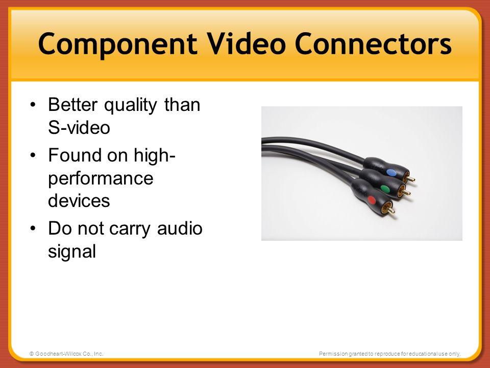 Component Video Connectors