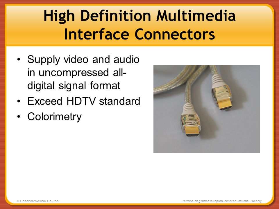 High Definition Multimedia Interface Connectors