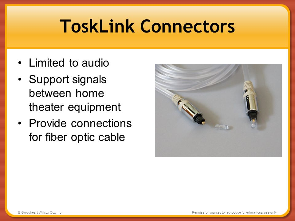 ToskLink Connectors Limited to audio