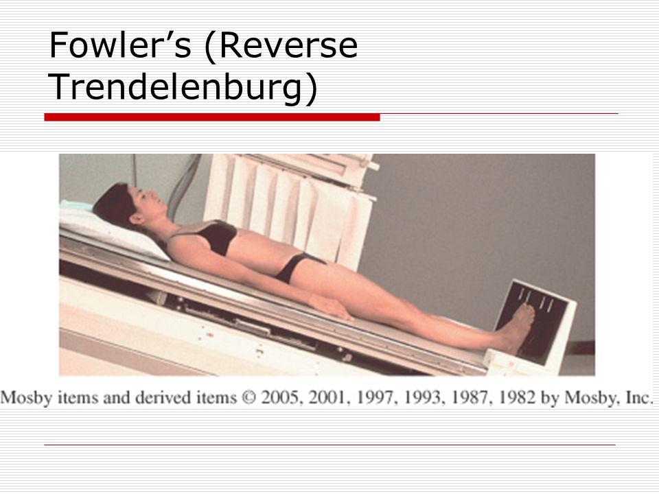 Fowler's (Reverse Trendelenburg)
