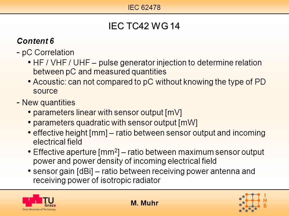 IEC TC42 WG 14 Content 6 pC Correlation