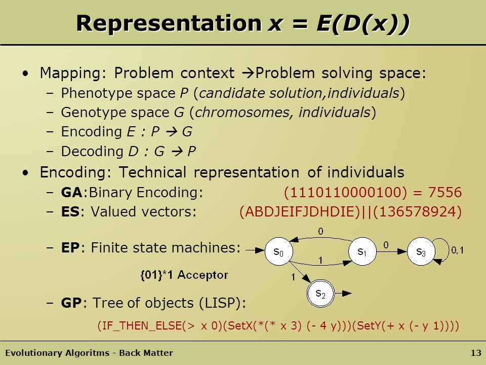 Representation x = E(D(x))
