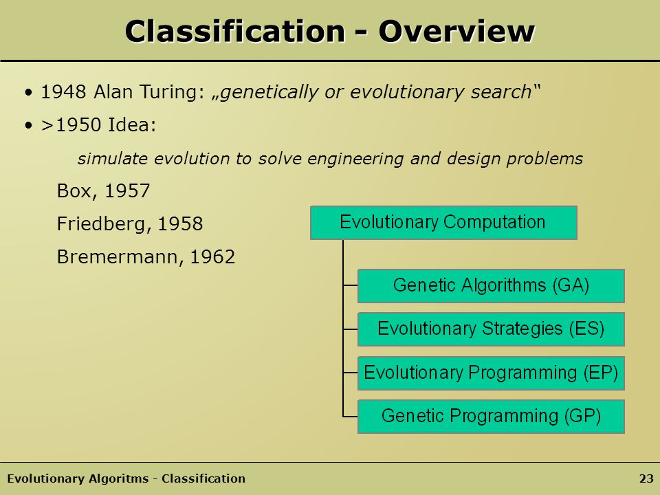 Classification - Overview