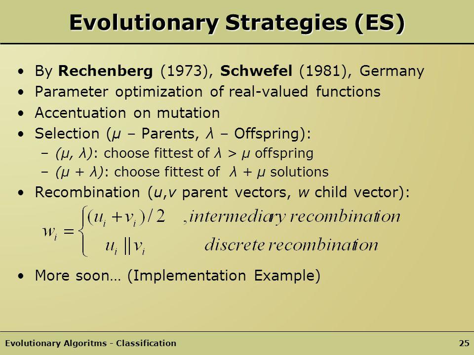 Evolutionary Strategies (ES)