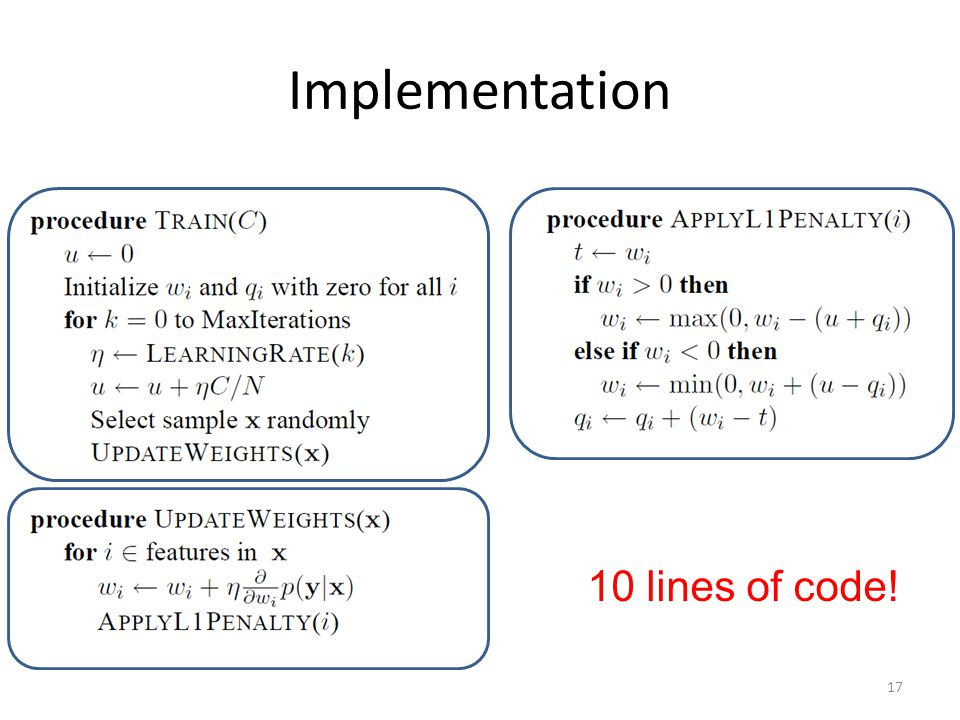 Implementation 10 lines of code!