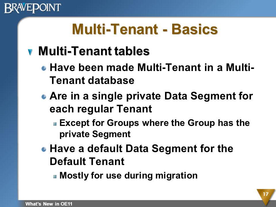Multi-Tenant - Basics Multi-Tenant tables