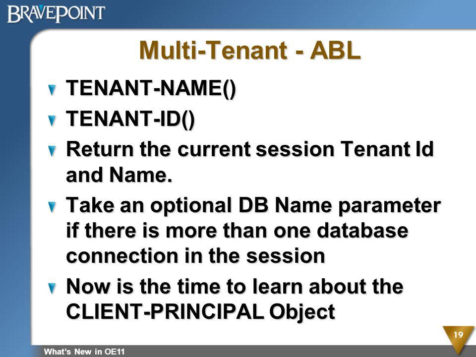 Multi-Tenant - ABL TENANT-NAME() TENANT-ID()
