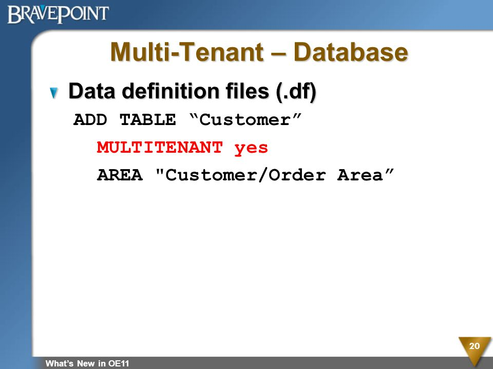 Multi-Tenant – Database