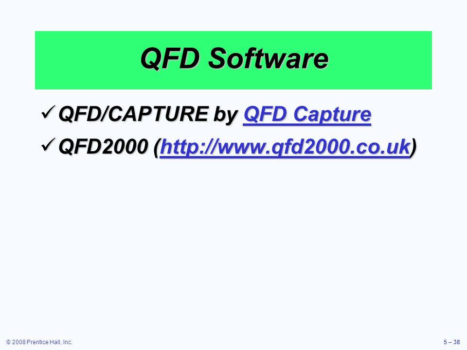 QFD Software QFD/CAPTURE by QFD Capture