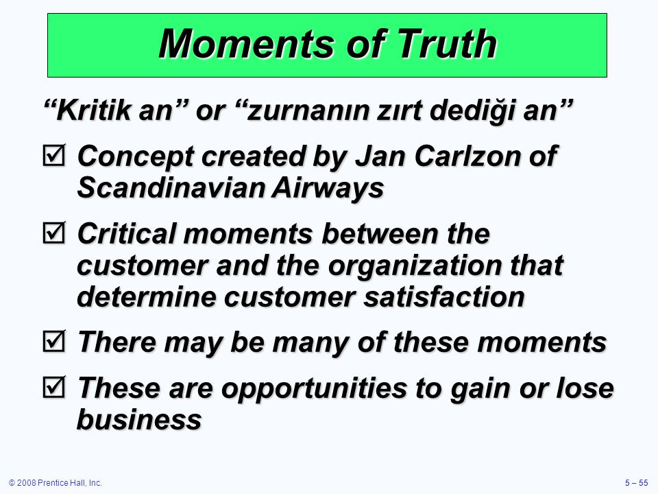 Moments of Truth Kritik an or zurnanın zırt dediği an
