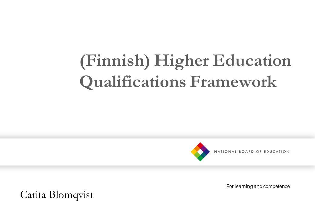 (Finnish) Higher Education Qualifications Framework
