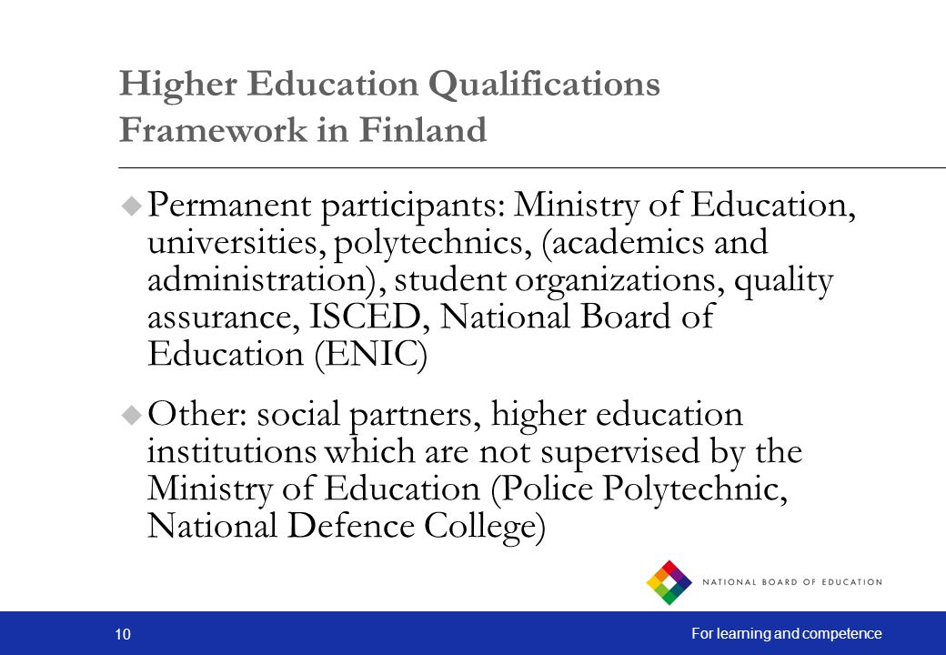 Higher Education Qualifications Framework in Finland