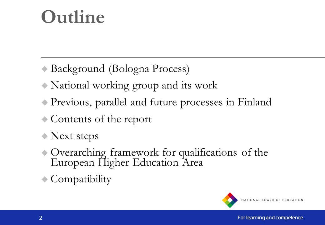 Outline Background (Bologna Process)