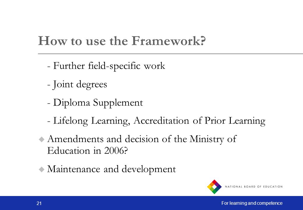 How to use the Framework