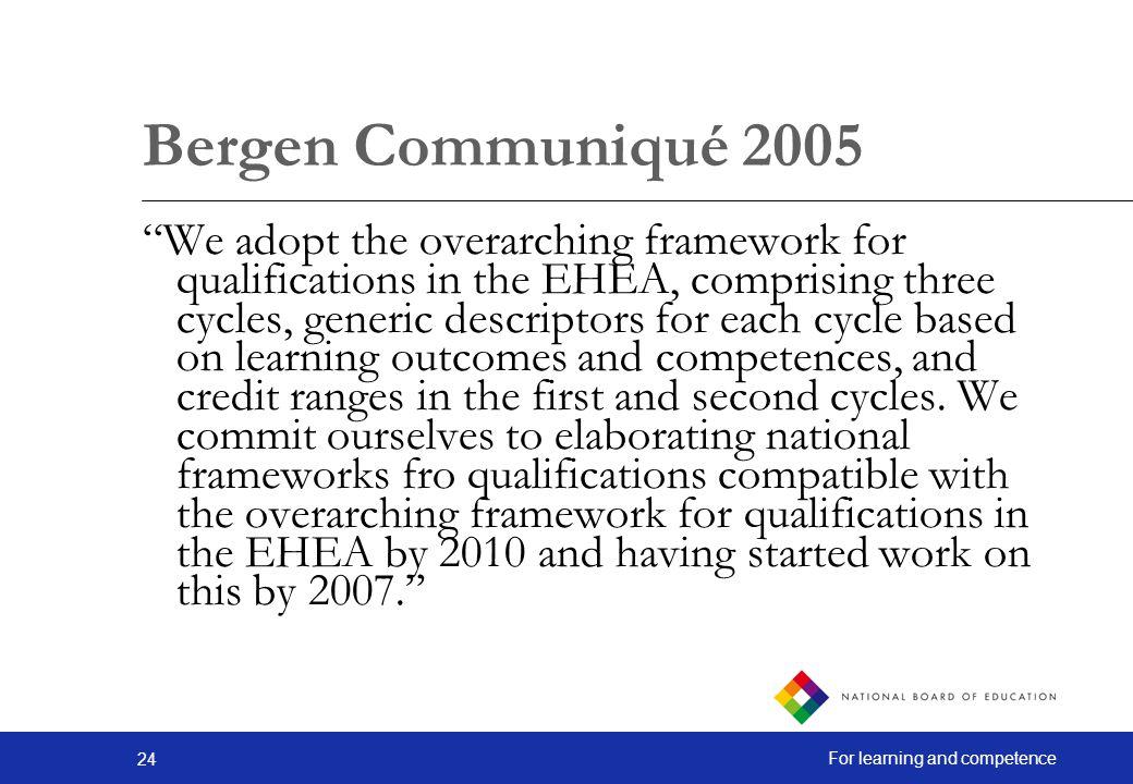 Bergen Communiqué 2005