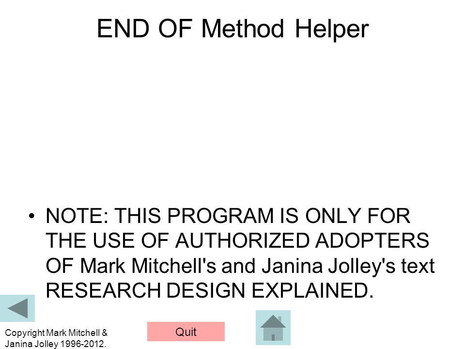 END OF Method Helper