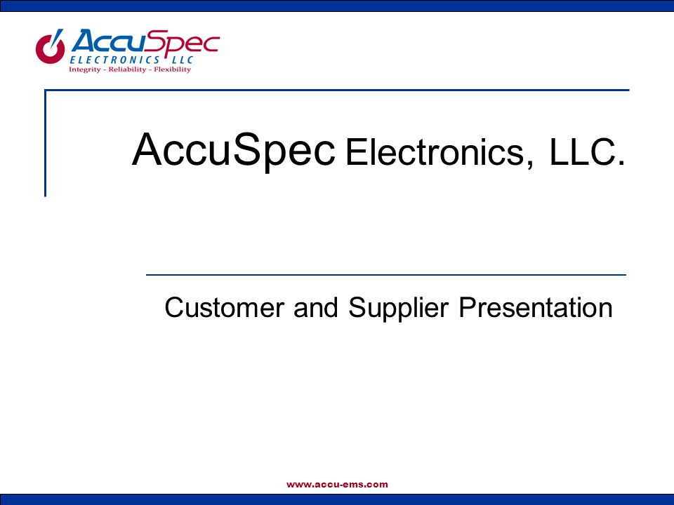 AccuSpec Electronics, LLC.