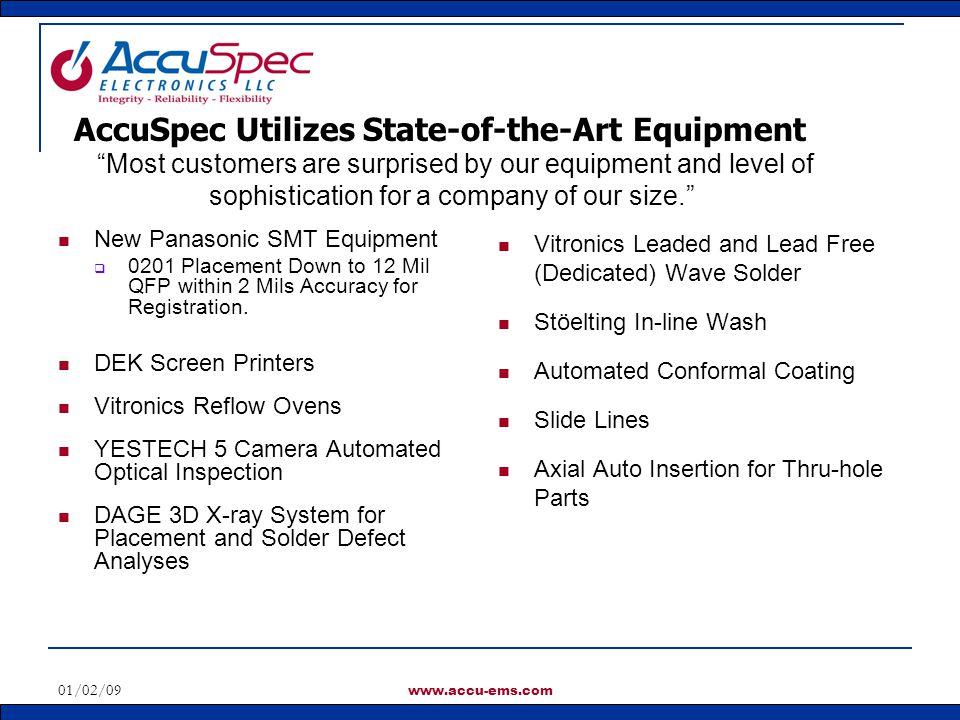 AccuSpec Utilizes State-of-the-Art Equipment
