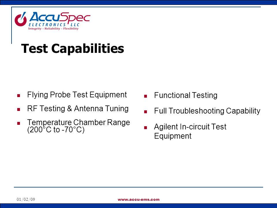 Test Capabilities Flying Probe Test Equipment