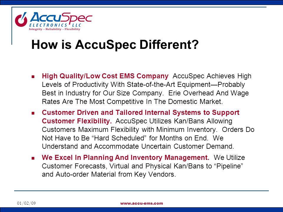 How is AccuSpec Different