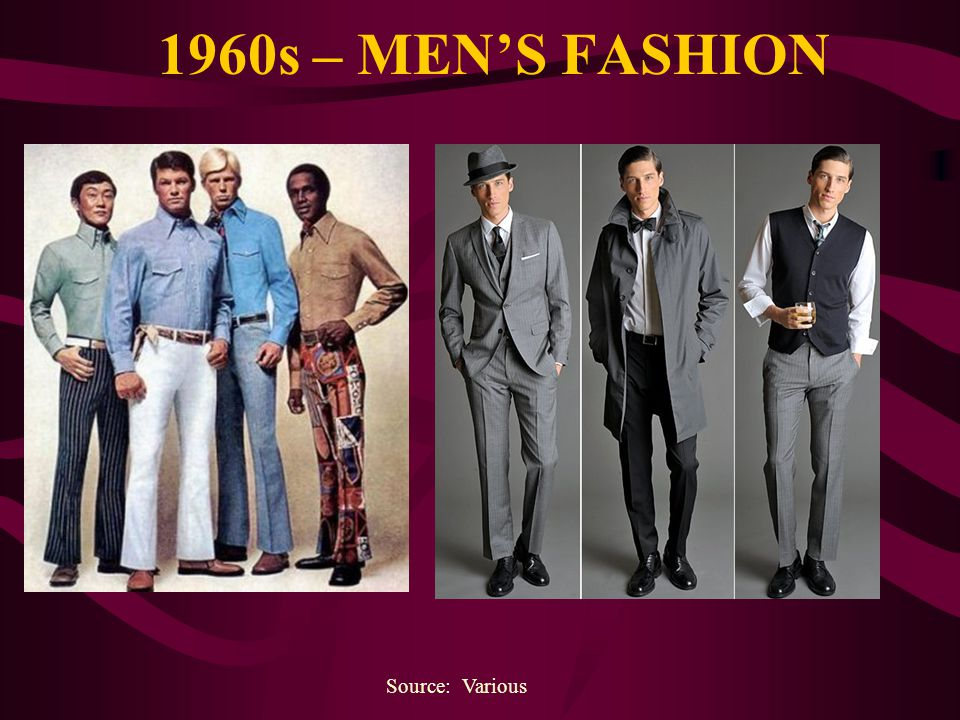 1960s – MEN'S FASHION Source: Various