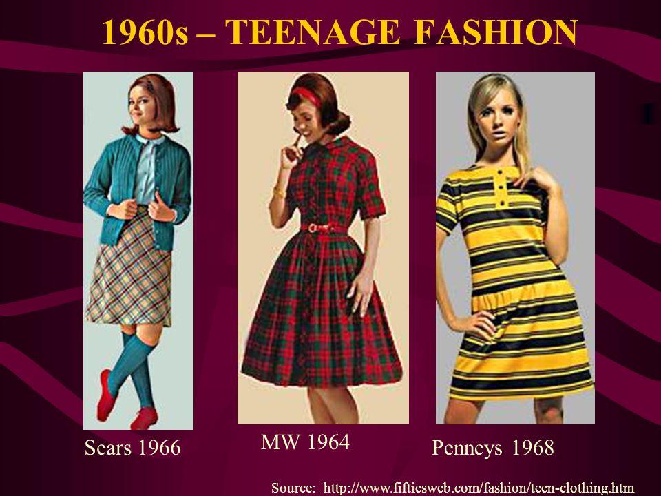 1960s – TEENAGE FASHION MW 1964 Sears 1966 Penneys 1968