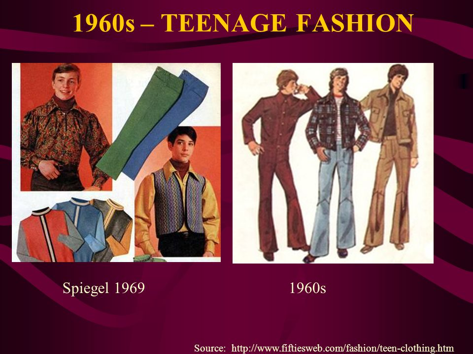 1960s – TEENAGE FASHION Spiegel 1969 1960s