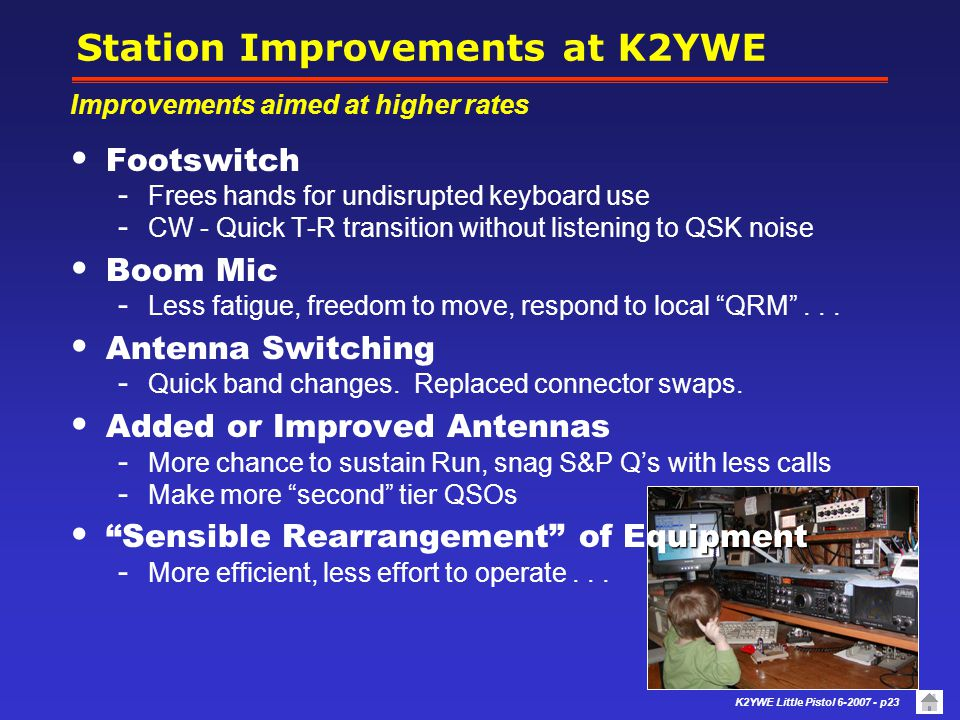 Station Improvements at K2YWE