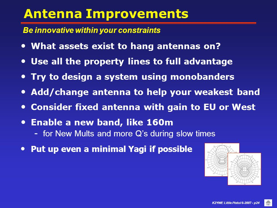 Antenna Improvements What assets exist to hang antennas on