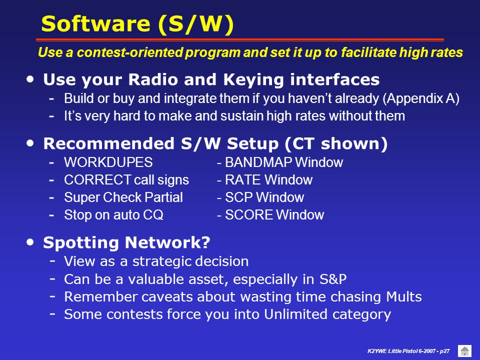 Software (S/W) Use your Radio and Keying interfaces
