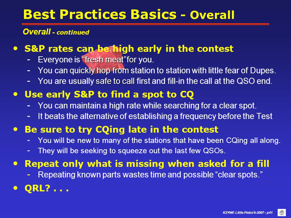 Best Practices Basics - Overall