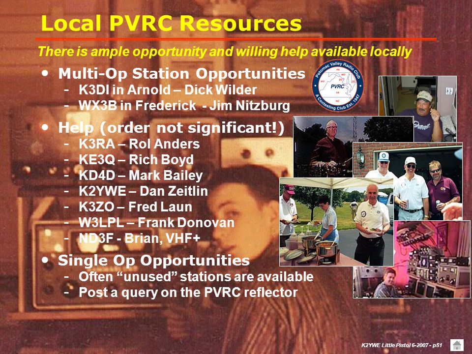 Local PVRC Resources Multi-Op Station Opportunities