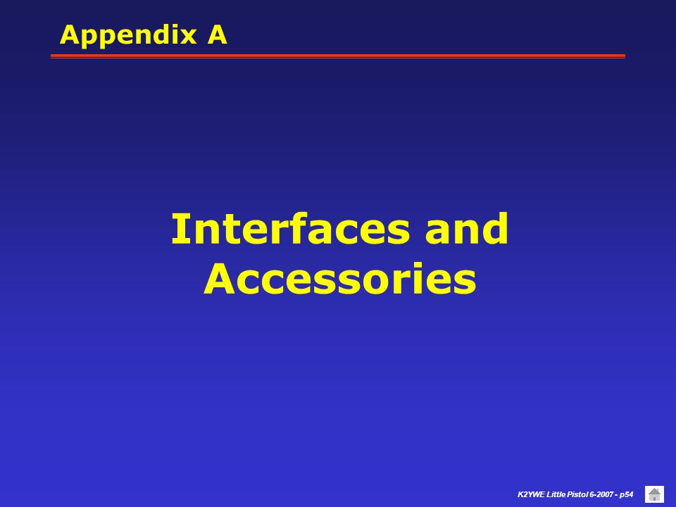 Interfaces and Accessories