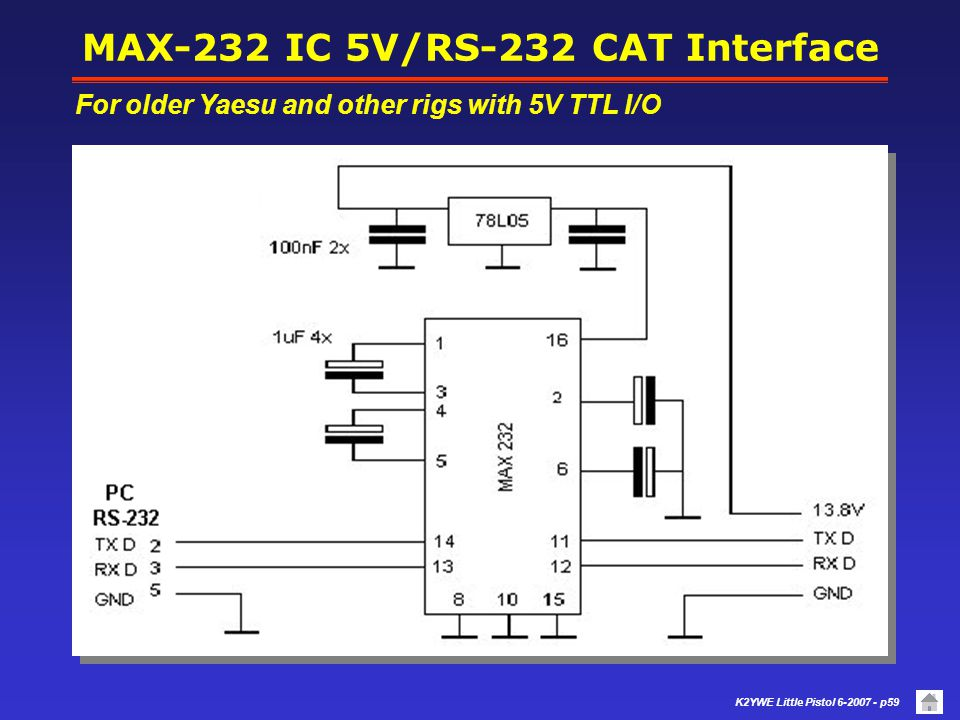 MAX-232 IC 5V/RS-232 CAT Interface