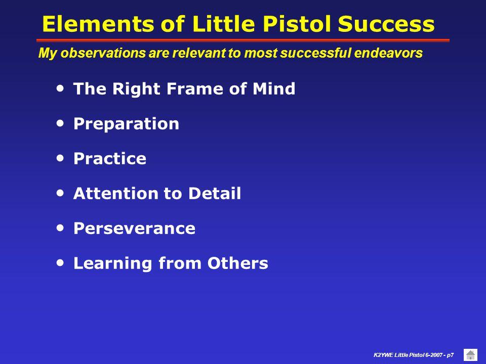Elements of Little Pistol Success