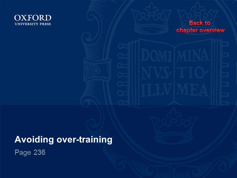 Avoiding over-training